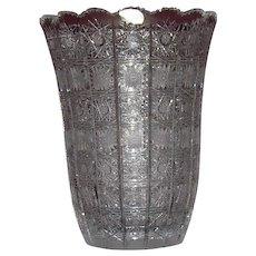1924 Bohemia Cut Glass Vase