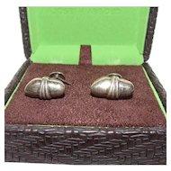 Vintage Joseph Abboud Sterling Silver Cufflinks