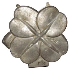 Vintage Pewter Four Leaf Clover Ice Cream Mold #268