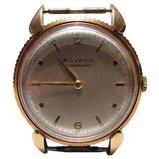14K Gold Men's Movado Futuramic Automatic Wrist Watch 1951