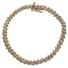 14K Gold 2.5 CTW Diamond Tennis Bracelet