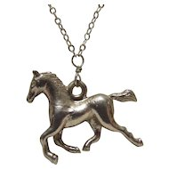 Sterling Bling Without The $ting: Vintage Sterling Silver Horse Pendant & Chain
