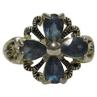 Sterling Bling Without The $ting: Vintage Sterling Silver Blue Topaz Ring