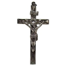 Sterling Bling Without The $ting: Vintage Sterling Silver Art Nouveau Crucifix