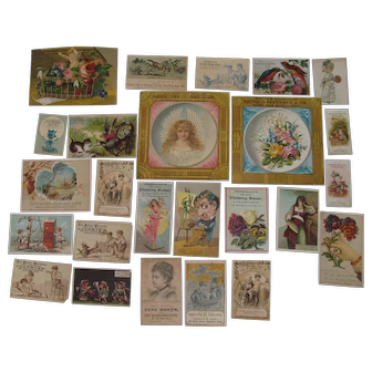 1885 Victorian Album Clothing Trade Cards & Cut Ups