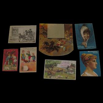 1885 Victorian Album Sewing Trade Cards & Cut Ups