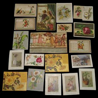 1885 Victorian Album Holiday Trade Cards