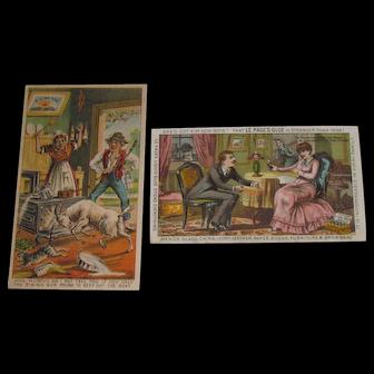 1885 Victorian Album Polish & Glue Trade Cards