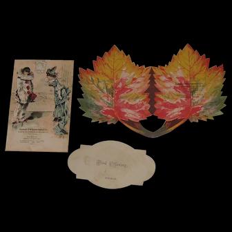 1885 Victorian Album Dance Card Trade Cards