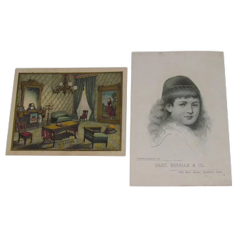 1885 Victorian Album Furniture & House Furnishings Trade Cards