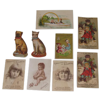 1885 Victorian Album Soap Trade Cards