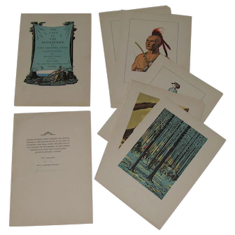 1932 Last Of The Mohicans Illustrations By Edward A. Wilson & Signed Page