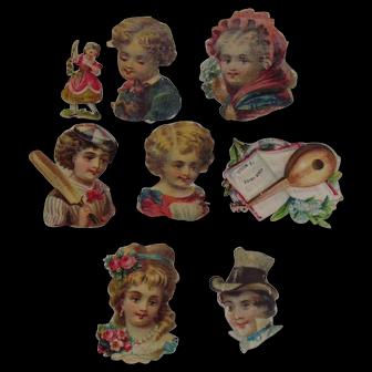 1885 Victorian Album Children Die Cuts