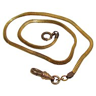 Vintage Gold Filled Snake Style Watch Chain
