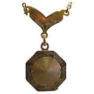 Victorian Gold Filled Locket Necklace