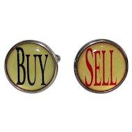 Vintage BUY & SELL Cufflinks