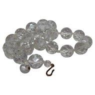 Vintage Cut Crystal Bead Necklace