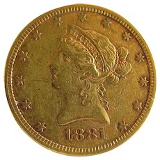 Bring Yourself Joy With This 1881-S US $10 Gold Coin: Only 10% Above Spot!