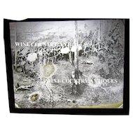 Civil War Magic Lantern Glass Plate Battlefield Scene