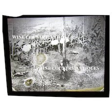 Civil War Magic Lantern Glass Plate Battlefield Scene
