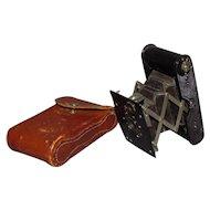 Early c1913 Kodak Autographic Vest Pocket Camera With Original Leather Case