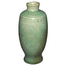 Chinese Longquan Celadon Vase, Ming Dynasty