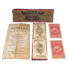 c1904 Trolley Card Game By Snyder Brothers