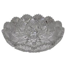 Vintage American Brilliant Cut Glass Bowl