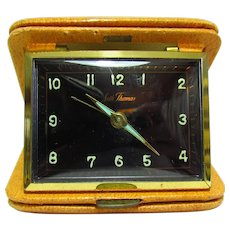 Vintage Seth Thomas 7J Germany Travel Alarm Clock