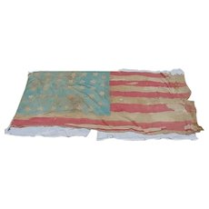 Historic Civil War Battle Scarred 34-Star 1861 US Flag With Provenance