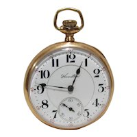 14K Gold Open Face 1907 Hamilton 978 Urban Railway & Trolley Employee Pocket Watch