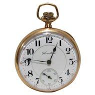 14K Gold Open Face 1907 Hamilton 978 Urban Railway & Trolley Employee Pocket Watch