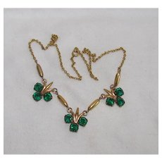 Gold Filled Gold Rush Sale:  Vintage Gold Filled Fleur De Lis Necklace