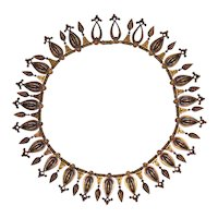 20K Gold c1870 Victorian Etruscan Revival Necklace Att. Castellani or Boucheron