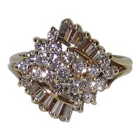 1960s Vintage 18K Gold 1 ⅓ CTW Diamond Ring