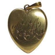 Victorian 18K Gold Victorian Heart Locket