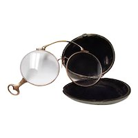 14K Gold Lorgnette with Original Case