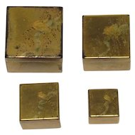 Qing Dynasty Chinese Hand Painted Lacquer Box Set