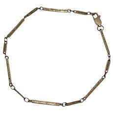 Vintage 9K Gold Upcycled Watch Chain Bracelet