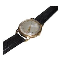 14K Solid Gold Men's Movado Wrist Watch With 17J Swiss C226 (A) Automatic Bumper Tempomatic Movement