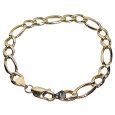 Vintage 14K Gold Heavy Link Bracelet