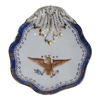 Vintage Chinese Export Armorial American Eagle Porcelain Dish