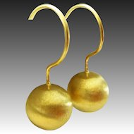 Everyday 18k Gold Vermeil Sterling Silver Sphere Earrings
