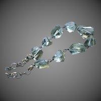 96ct Finest Green Amethyst-Prasiolite-Natural Amethyst Nugget-Oxidized Sterling Silver-February Birthstone Nekclace
