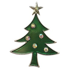 Signed TANCER II Christmas Tree Pin - Different