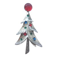 Beautiful Vintage RS Christmas Tree Pin - Book Piece