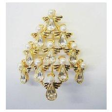 "Signed ""BW"" Christmas Tree Pin - Beautiful - Book Piece"