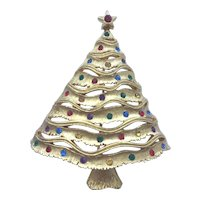Vintage Signed *JJ* Christmas Tree Pin - Book Piece