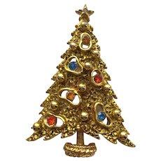 Vintage Signed ART RS Christmas Tree Pin