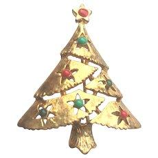 Vintage EISENBERG ICE Christmas Tree Pin